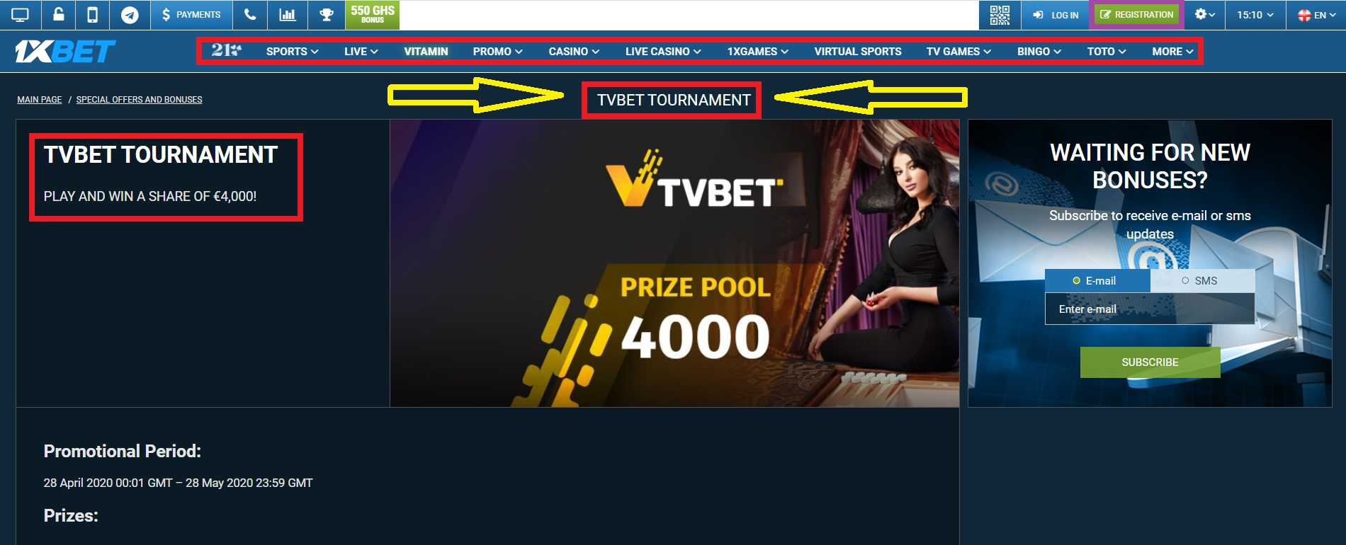 1xBet first deposit bonus for every new customer